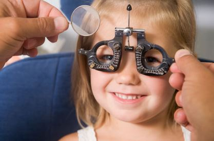Toddler Eye Examination Image